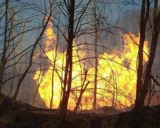 пожар на газопроводе в Закарпатской области