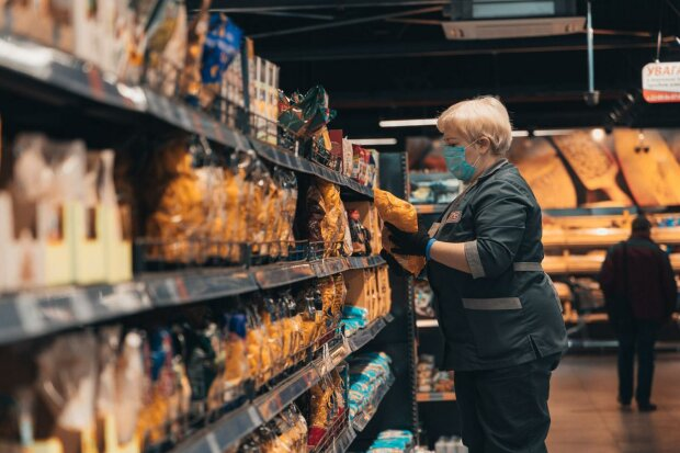 супермаркет, коронавирус, продукты