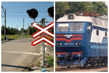Пассажирский поезд наехал на легковушку по пути в Одессу, фото: авто выехало на рельсы