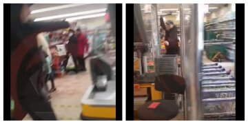 """Чоловік з сокирою влаштував погром в АТБ, відео: """"Тепер за все заплатить"""""""