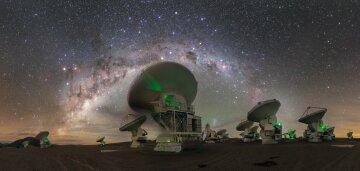 космос, телескоп, ночь, ALMA