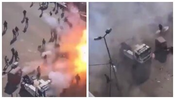 """Страшні вибухи прогриміли в центрі столиці, момент потрапив на відео: """"Кількість жертв зросла до..."""""""