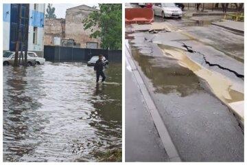 Не витримала напору стихії: з'явилося відео наслідки зливи в Одесі