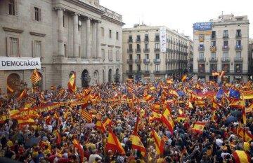 Барселона, Испания, митинг в поддержку единства
