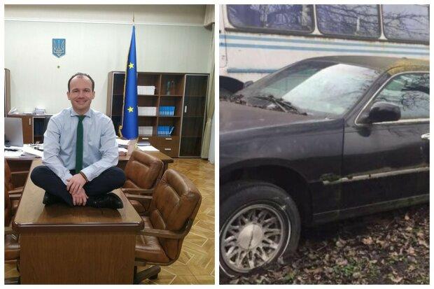 Авто гниють у міністерства, лімузин поріс мохом: «Краще б у дитячий будинок віддали», фото варварства