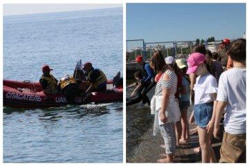 """На одесском пляже """"спасали"""" человека, вызвали водолазов: """"на скорости упал со скутера"""""""