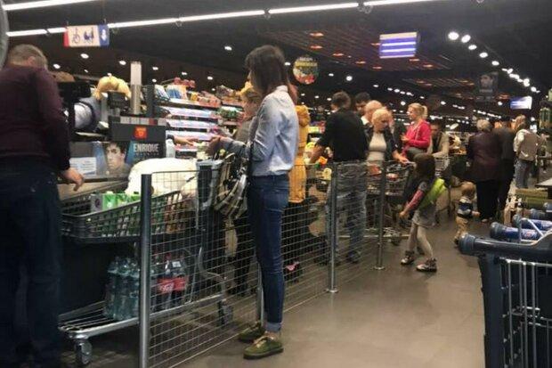 супермаркет, очередь
