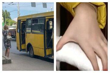 Девочке зажало руку дверью автобуса:  водитель вместо помощи начал материться, фото