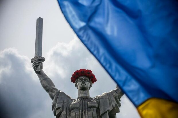 Родина Мать, Украина, флаг