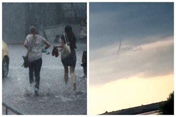 """Стихія розбушувалася на Одещині, з'явилося відео: """"Смерч, дощ і град"""""""