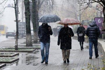 погода в украине, мокрый снег