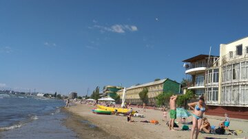 пляж, літо, погода, люди