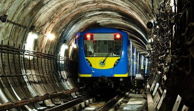 метро, поезд, тоннель