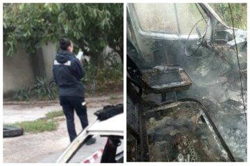 Обгоріле тіло начальника Служби безпеки знайдено в авто: перші кадри трагедії