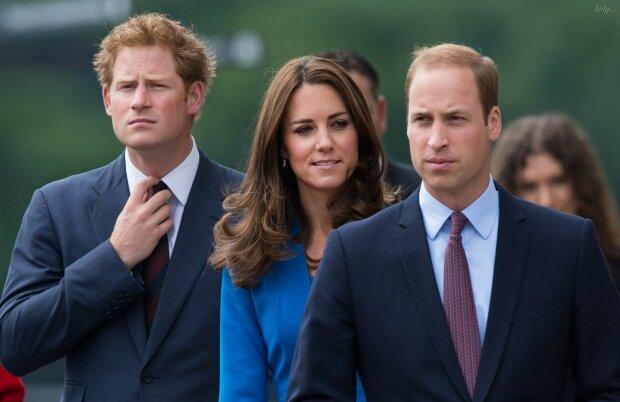 принц гарри, принц уильям, кейт миддлтон