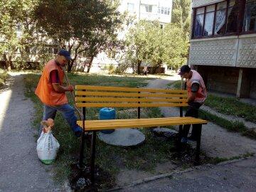 лавочки, Харьков, коммунальщики