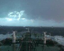 шторм, корабль, непогода в море