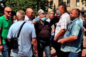 украинцы, на улице, в масках, лето, пенсионеры, пенсии