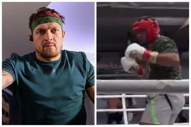 Усик відправив у нокаут спаринг-партнера, відео: чемпіону довелося завершити кар'єру