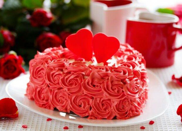торт на валентина