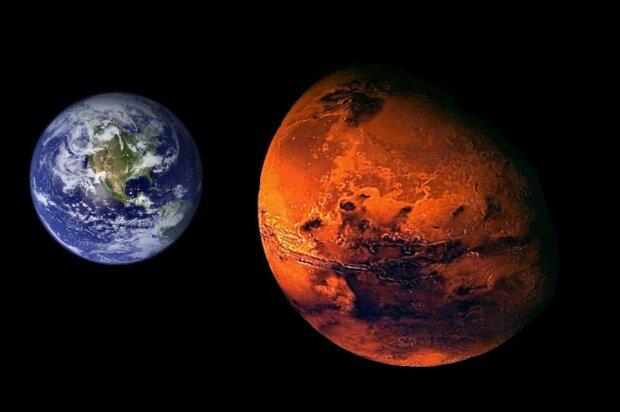 марс, земля, противостояние