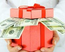 подарок деньги доллары подарки