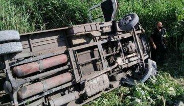 Под Днепром маршрутка перевернулась в водоем, кадры: пассажиры в реанимации, водитель сбежал