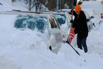 морозы, снег,США