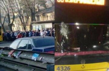 """""""Народ образився, що їх не хочуть возити"""": громадський транспорт трощать у Києві, кадри"""