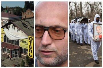 """Власника """"Токіо Стар"""" у закритій труні несли на руках люди в білому: кадри прощання в Одесі"""