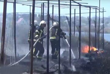 Масштабна пожежа у Кропивницькому, вогонь підступив до житлових будинків: кадри з місця
