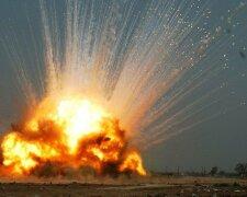 мина, взрыв