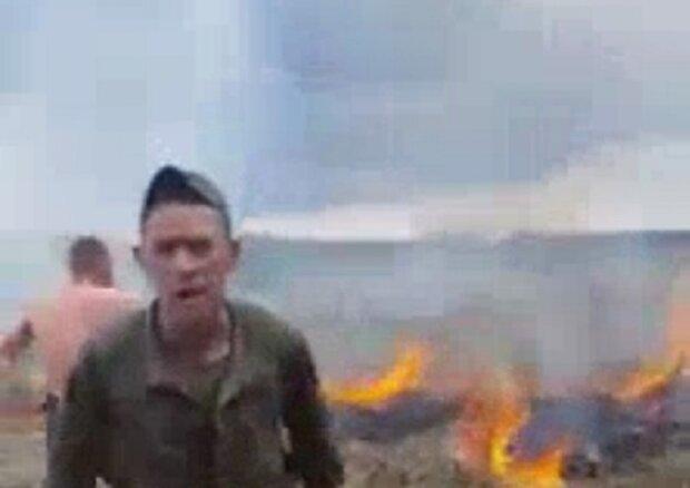 Нацгвардейцы устроили поджог травы и набросились на очевидцев под Киевом: видео