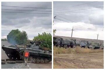 Колона військової техніки помічена під Одесою: відео від очевидців