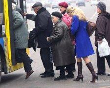 автобус транспорт пенсионеры