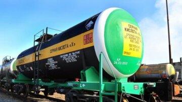 Отгрузки серной кислоты на железной дороге за 4 месяца 2020 года выросли на 5,6%