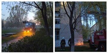 У п'ятиповерховому будинку на Харківщині спалахнуло сміття, почалася евакуація: кадри з місця НП