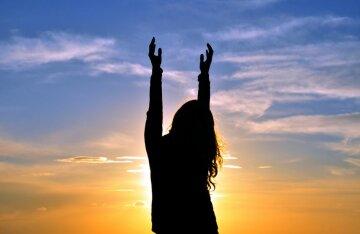 молитва, девушка