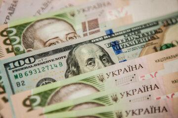 доллары, гривны, деньги