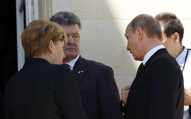 Ангела Меркель, Петр Порошенко, Владимир Путин, нормандская четверка, Минские соглашения