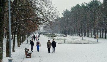 зима погода люди снег холод мороз парк