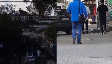 У центрі Одеси чоловік зірвався з даху, з'їхалася поліція: відео трагедії
