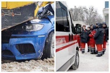 В Одессе автокран раздавил иномарку, в машине находились дети: кадры с места ДТП