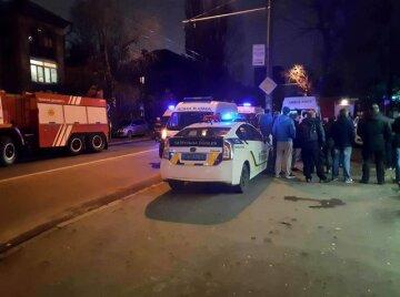 взрыв киев многоэтажка полиция скорая пожарные