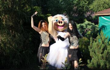 """Детский центр показывает танцы для взрослых, нелепые кадры: """"Свинка раздевается и развлекает всех"""""""