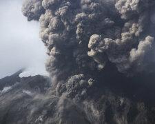 дым, катастрофа, вулкан, конец света