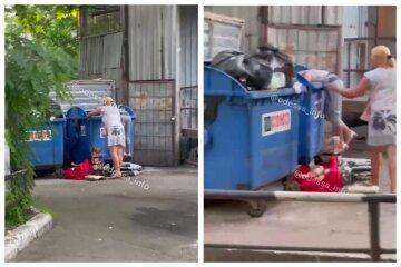 Женщины роются в мусорных баках в поисках просрочки: печальная картина из Одессы