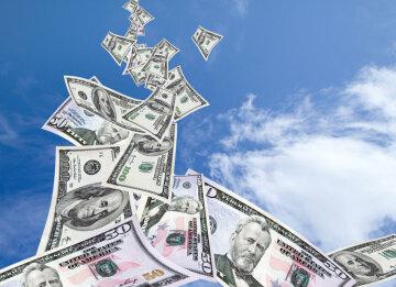 деньги с неба