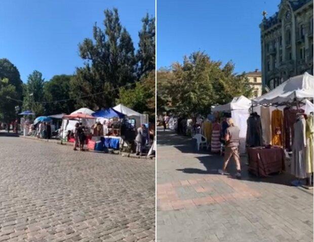 """""""Как на 7 километре"""": в центре Одессы появился стихийный рынок, кадры позора"""
