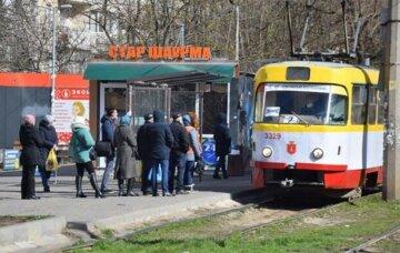 трамвай, общественный транспорт
